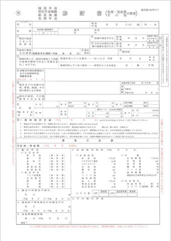 血液・造血器・その他の障害用 診断書